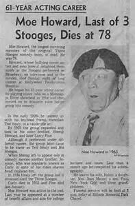 Moe Obituary