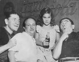 Stooges with Fan in 1950s