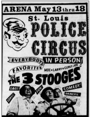 Ad for the Stooges appearance at Police Circus, 1969 4 May StL P-D
